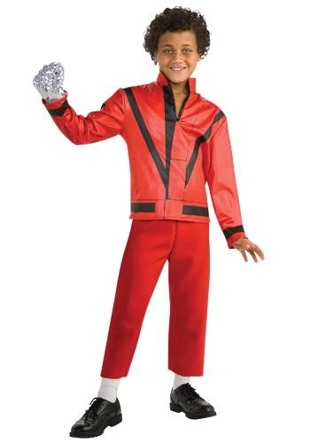 Child Red Thriller Jacket Costume