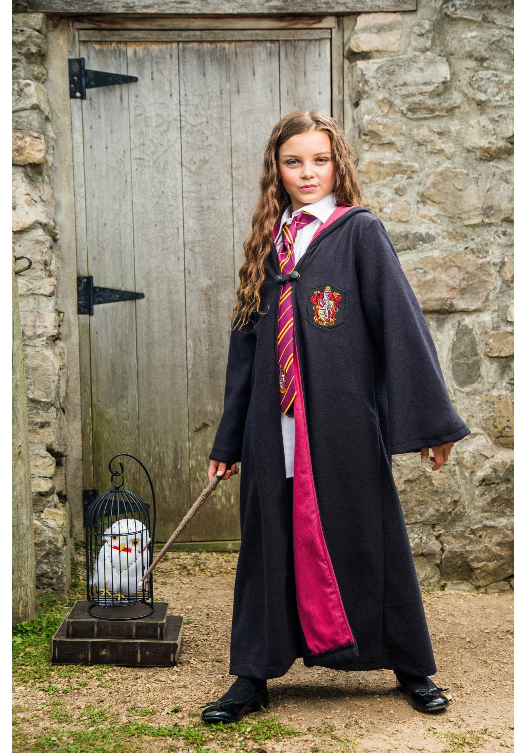 "ROBE ~ 10/"" HERMOINE GRANGER FASHION DOLL BLACK GRYFFINDOR HOODED GOWN CLOTHING"