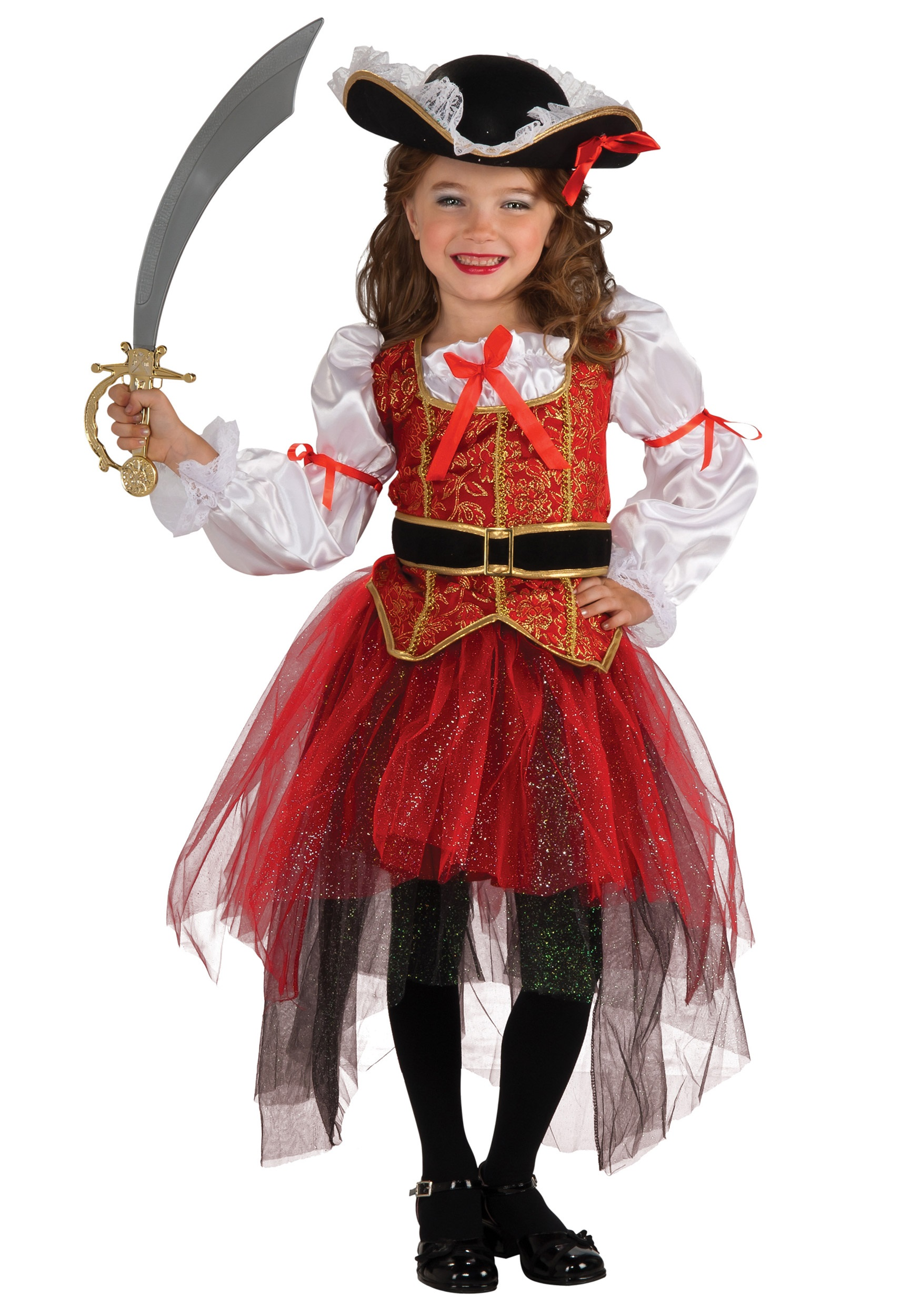Girls Princess Sea Pirate Costume  sc 1 st  Halloween Costumes & Girlu0027s Pirate Costumes - Kidu0027s Toddler Pirate Girl Costume