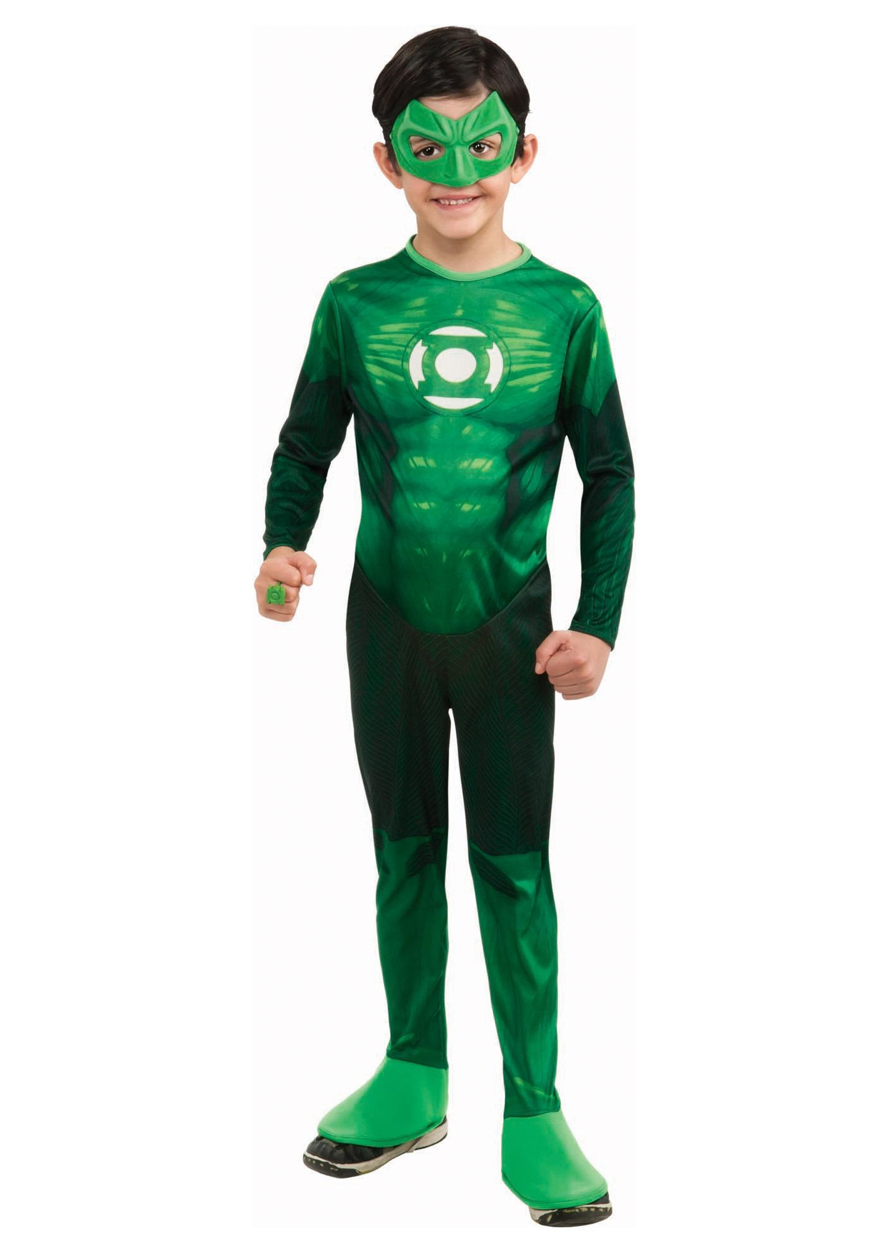 kids deluxe green lantern costume. Black Bedroom Furniture Sets. Home Design Ideas