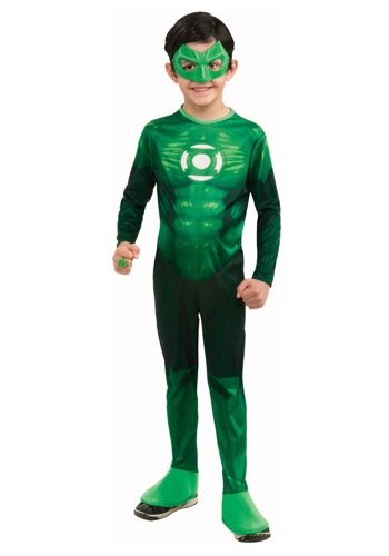Click Here to buy Kids Deluxe Green Lantern Costume from HalloweenCostumes, USA Funds & Shipping