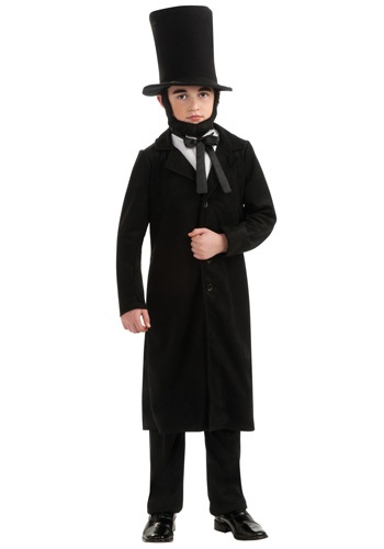 Click Here to buy Kids Abe Lincoln Costume from HalloweenCostumes, USA Funds & Shipping