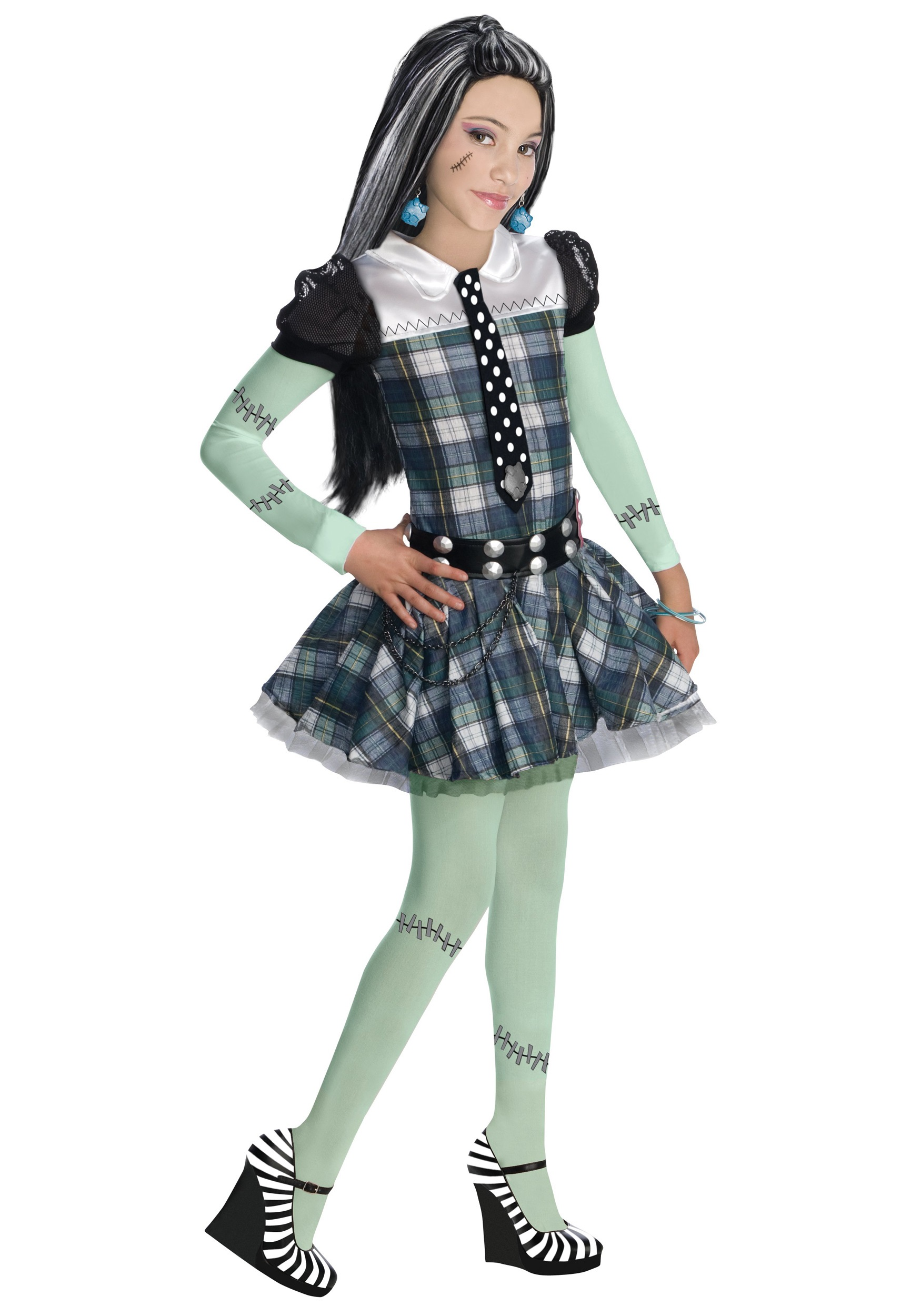 Girl's Monster High Frankie Stein Costume RU884786