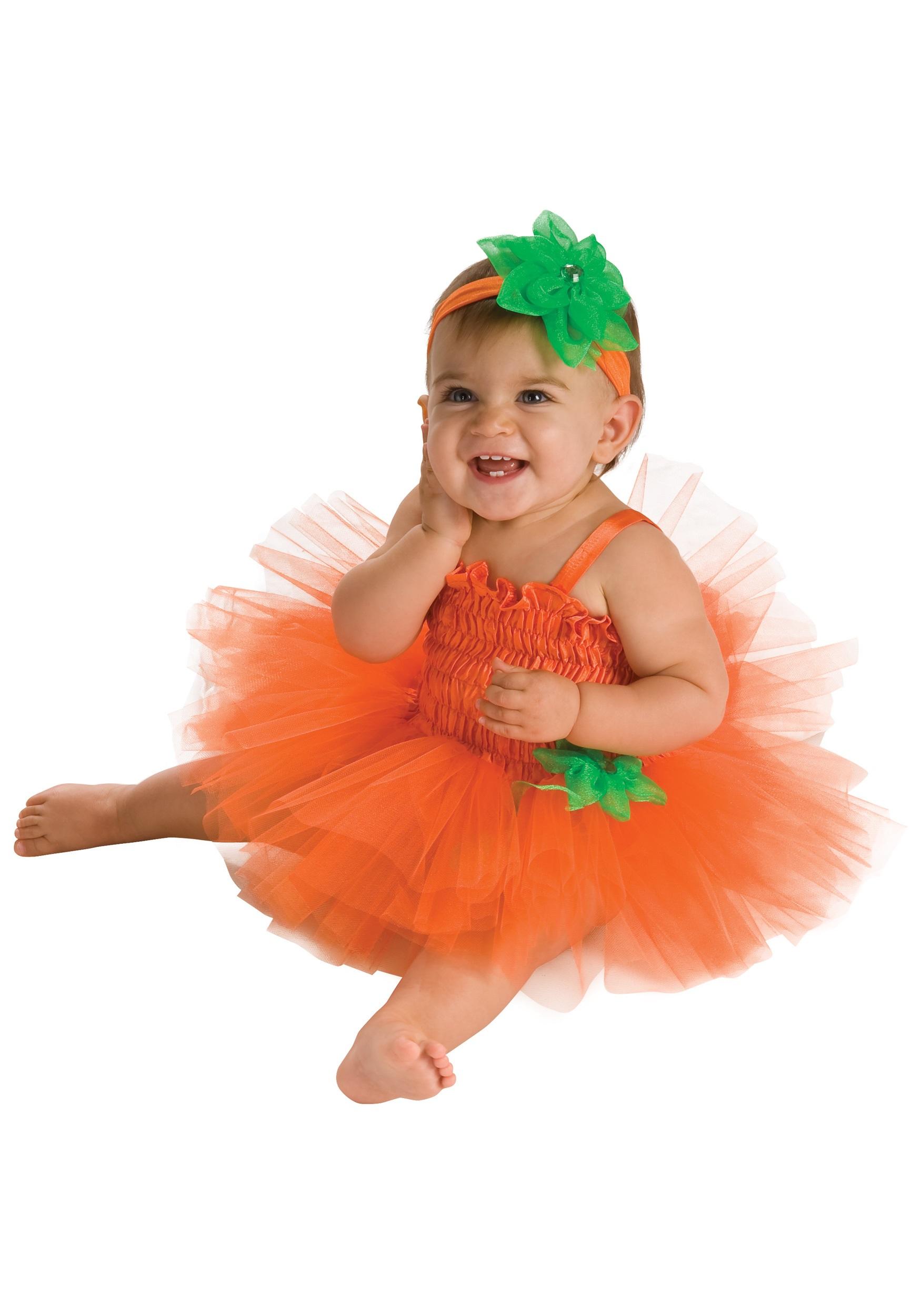 Infant Pumpkin Tutu Dress