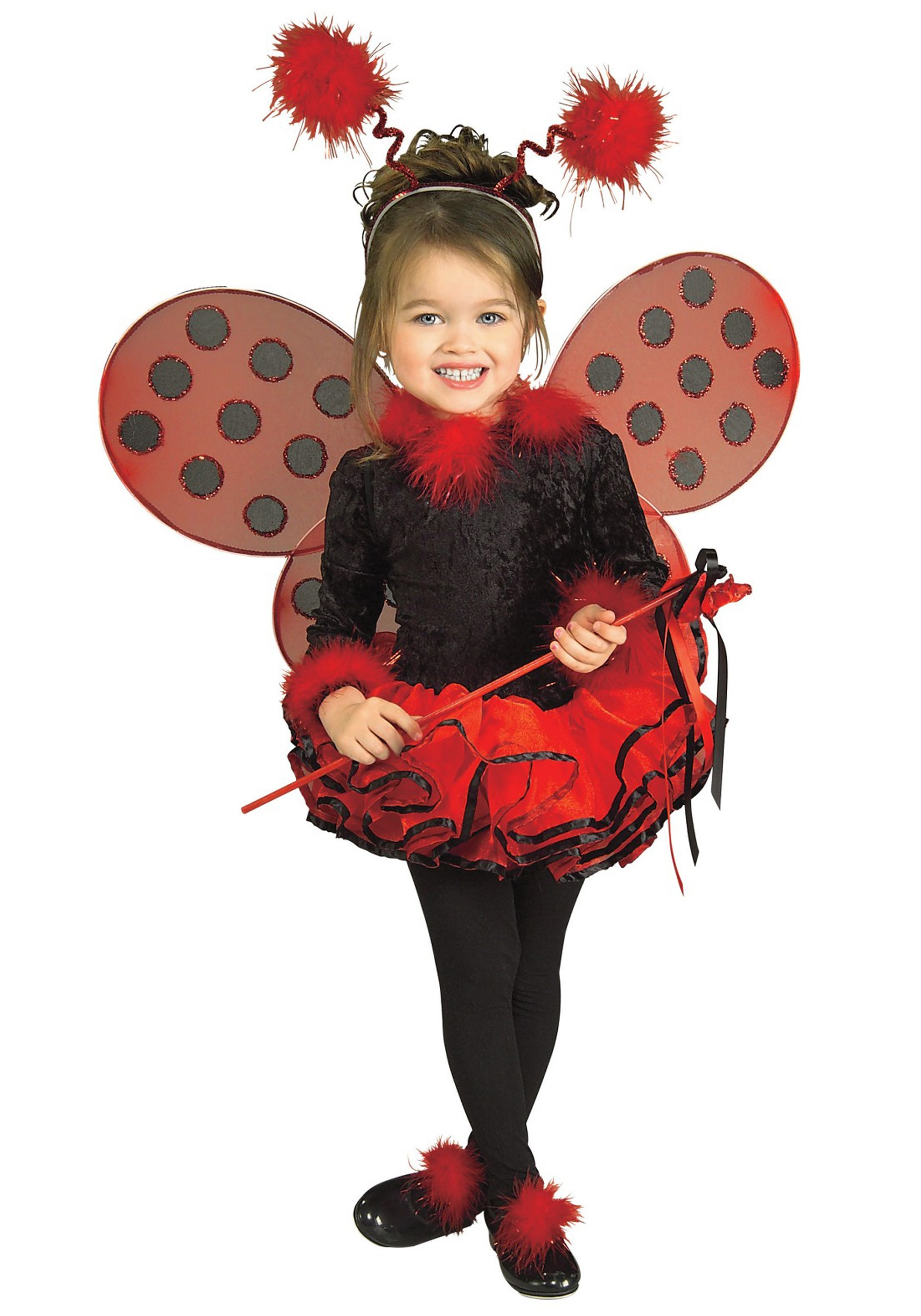 Cute Halloween Makeup Ideas: Deluxe Toddler Ladybug Costume