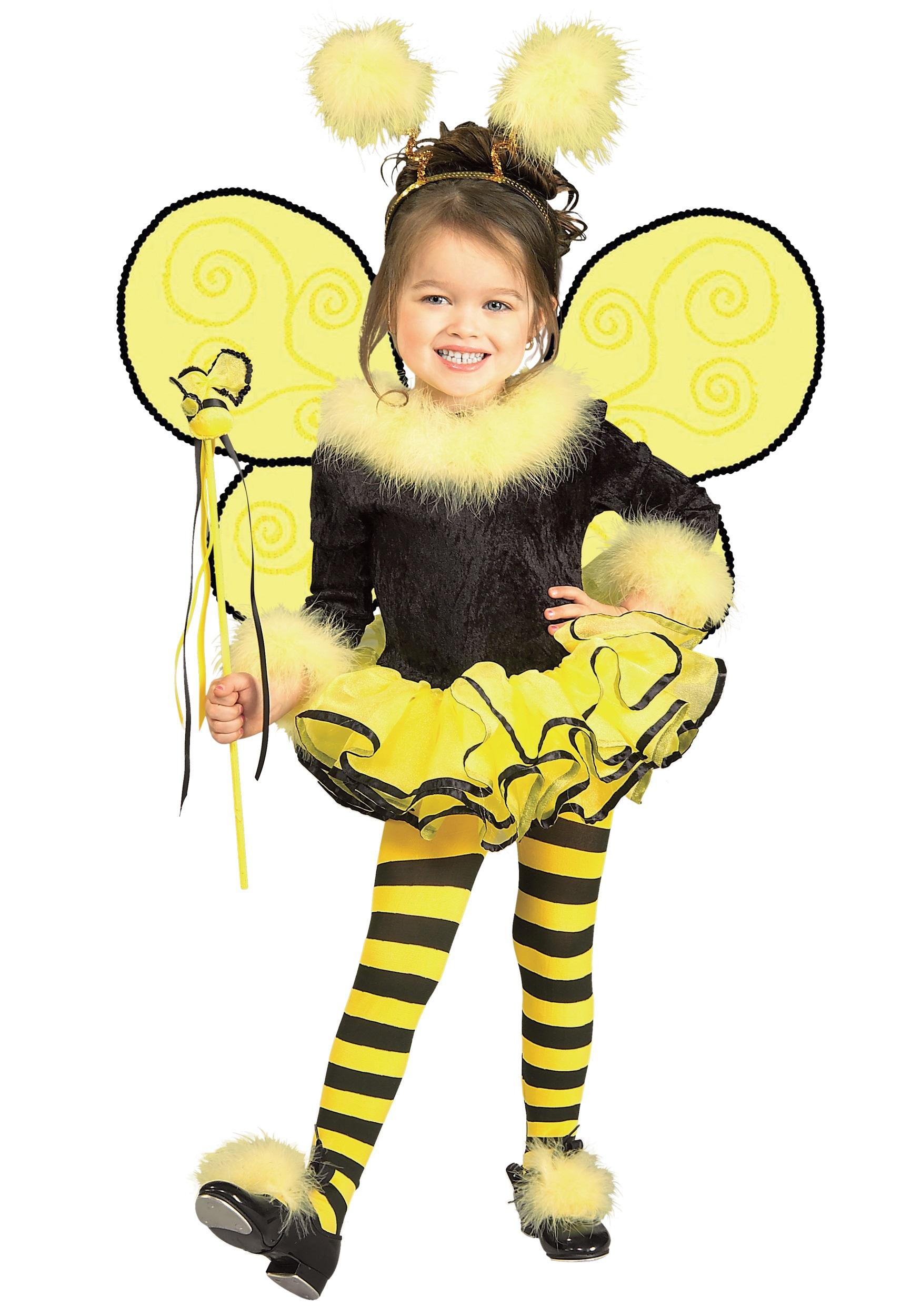 Bumble bee costumes honey bee costumes halloweencostumes toddler bumble bee costume solutioingenieria Choice Image