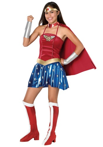 Click Here to buy Wonder Woman Teen Costume from HalloweenCostumes, USA Funds & Shipping