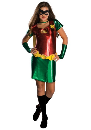 Click Here to buy Tween Girls Robin Costume from HalloweenCostumes, CDN Funds