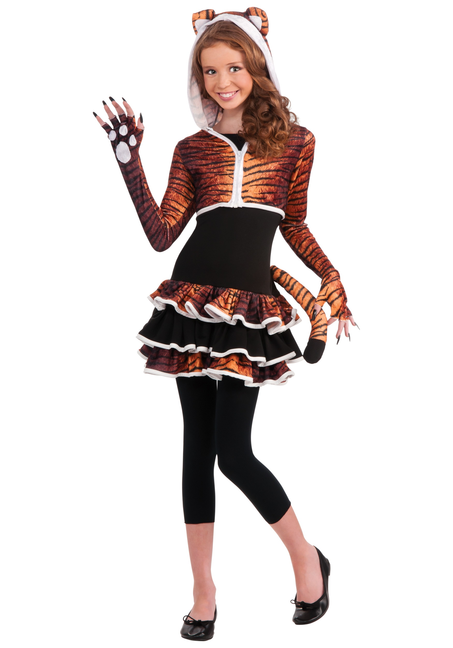 Tween tigress costume for Cool halloween costumes for kids girls