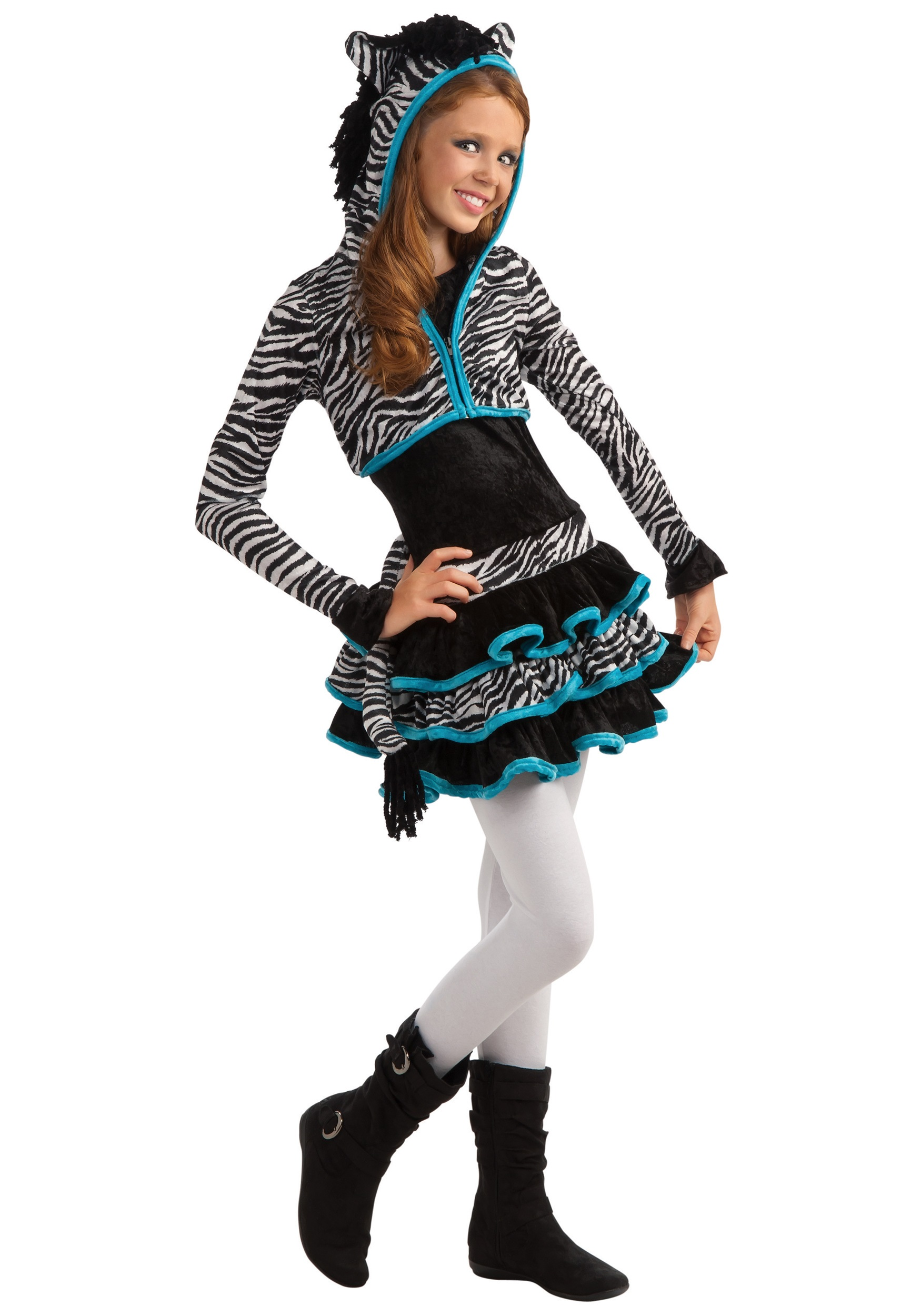 tween zebra costume. Black Bedroom Furniture Sets. Home Design Ideas
