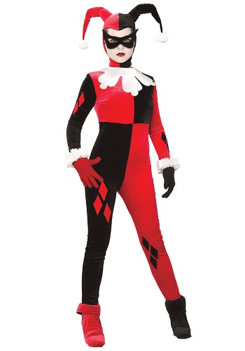 Click Here to buy Harley Quinn Womens Costume from HalloweenCostumes, CDN Funds
