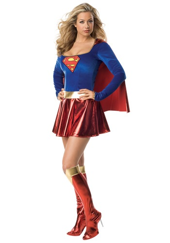Click Here to buy Womens Sexy Supergirl Costume from HalloweenCostumes, CDN Funds