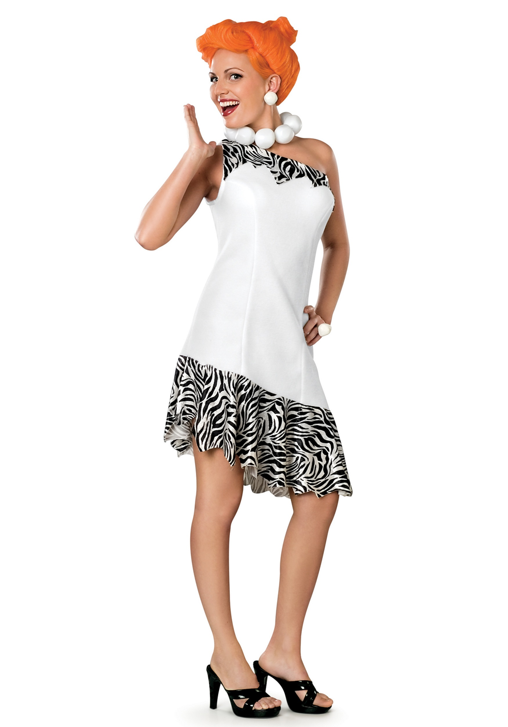 Adult Deluxe Wilma Flintstone Costume  sc 1 st  Halloween Costumes : flintstones costume ideas  - Germanpascual.Com