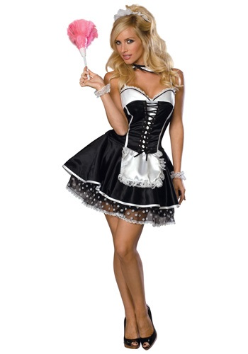 Click Here to buy Womens Naughty Maid Costume from HalloweenCostumes, USA Funds & Shipping