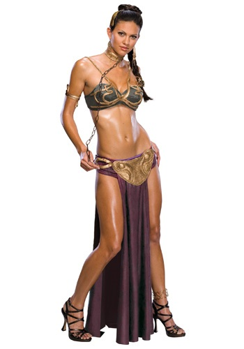 Click Here to buy Sexy Princess Leia Slave Costume from HalloweenCostumes, USA Funds & Shipping