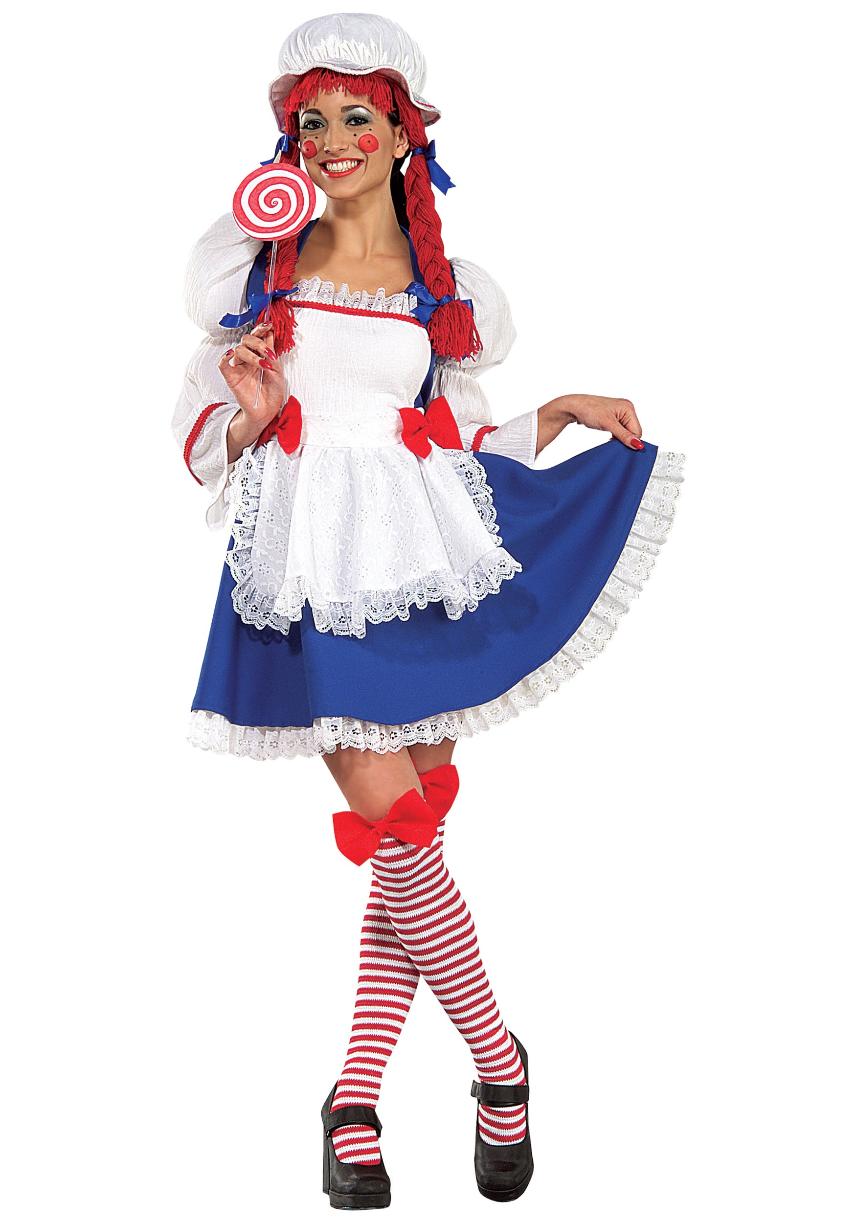 adult cheerful rag doll costume
