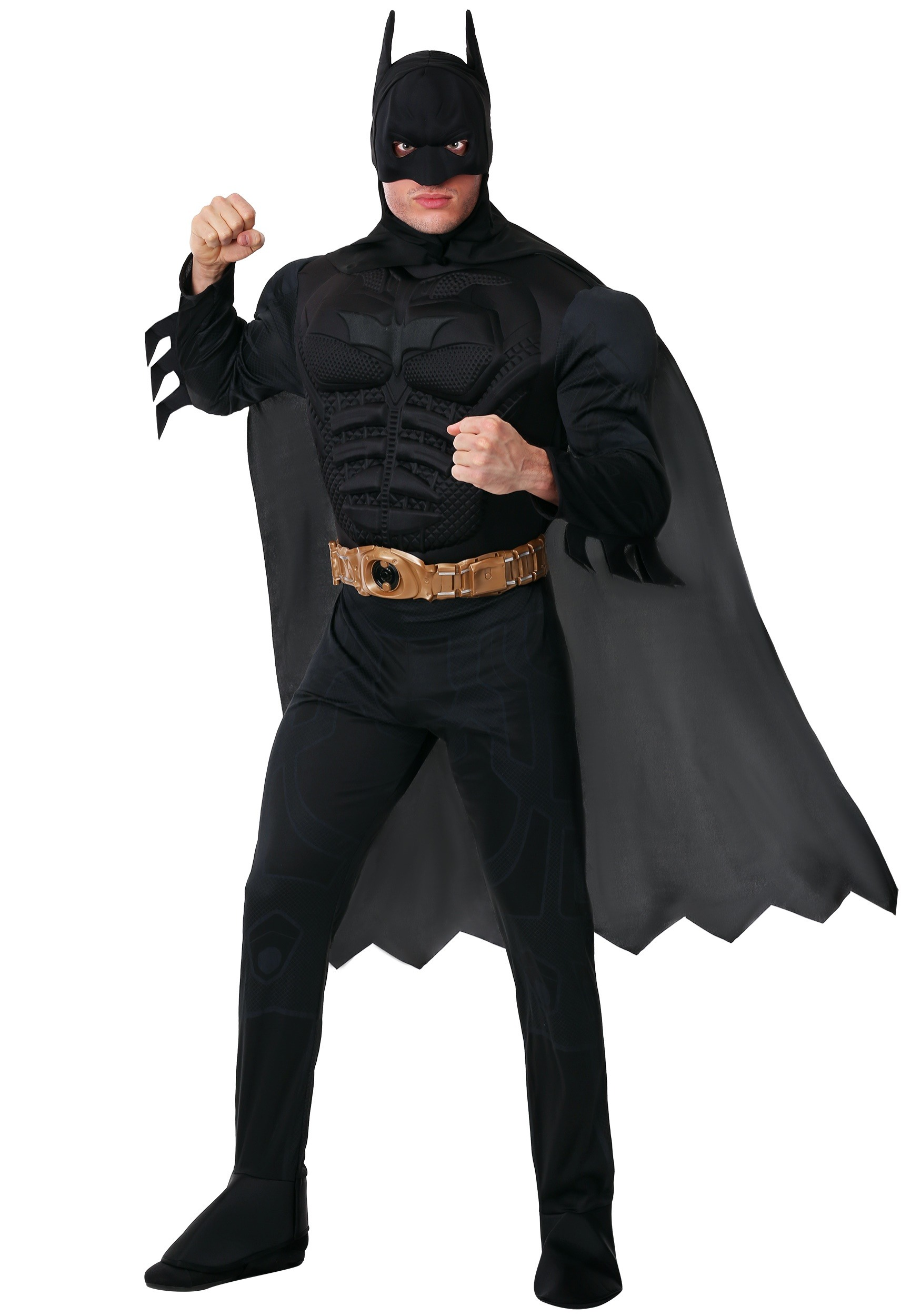 sc 1 st  Halloween Costumes & Adult Deluxe Dark Knight Batman Costume