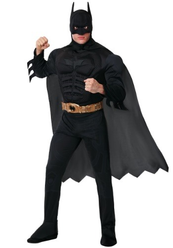 Click Here to buy Adult Deluxe Dark Knight Batman Costume from HalloweenCostumes, USA Funds & Shipping