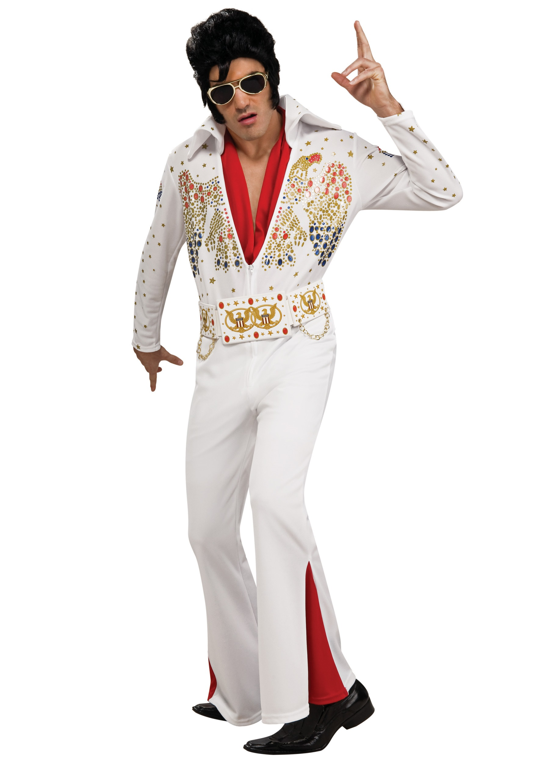 sc 1 st  Halloween Costumes & Deluxe Adult Elvis Costume
