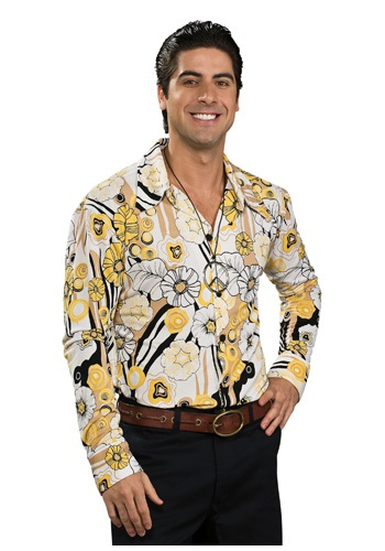 Click Here to buy Yellow Disco Shirt from HalloweenCostumes, CDN Funds