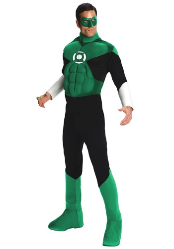 Click Here to buy Adult Deluxe Green Lantern Costume from HalloweenCostumes, CDN Funds