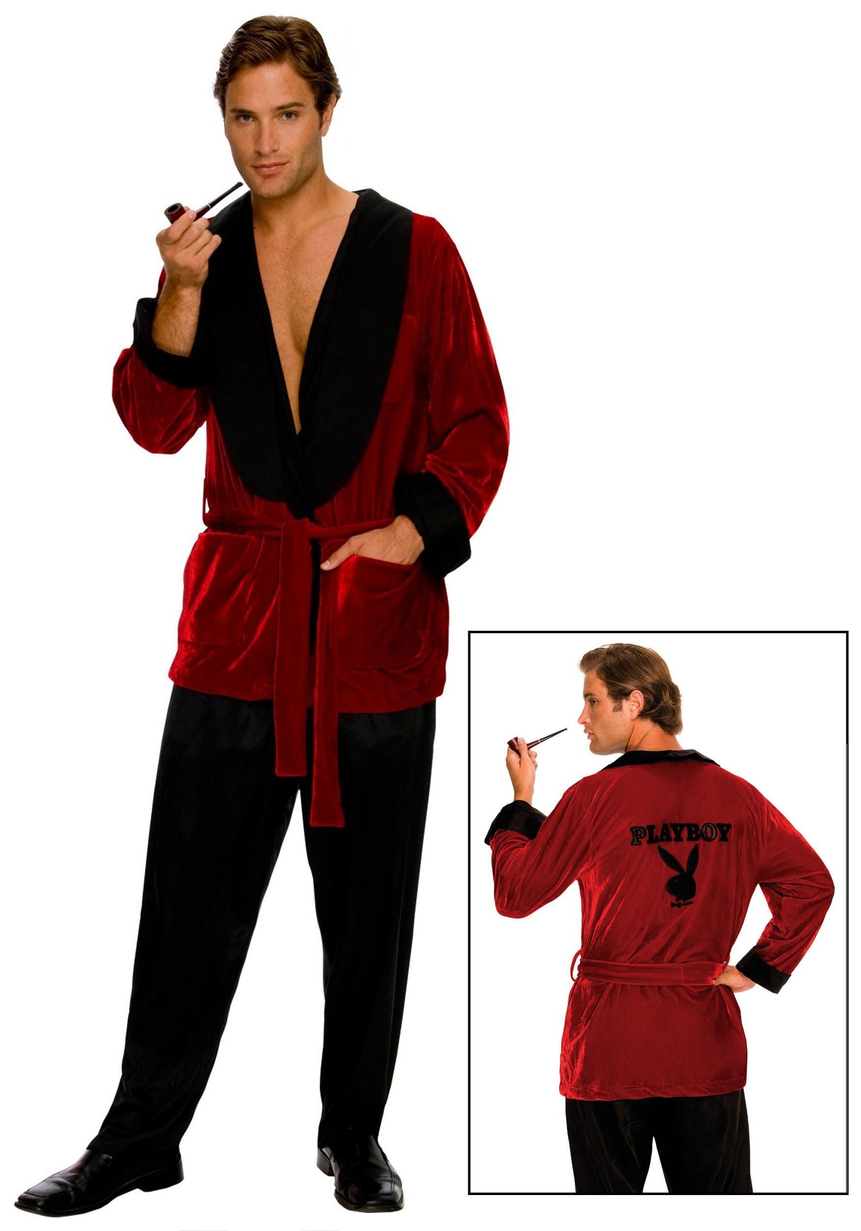 playboy hugh hefner smoking jacket - Halloween Costumes Playboy