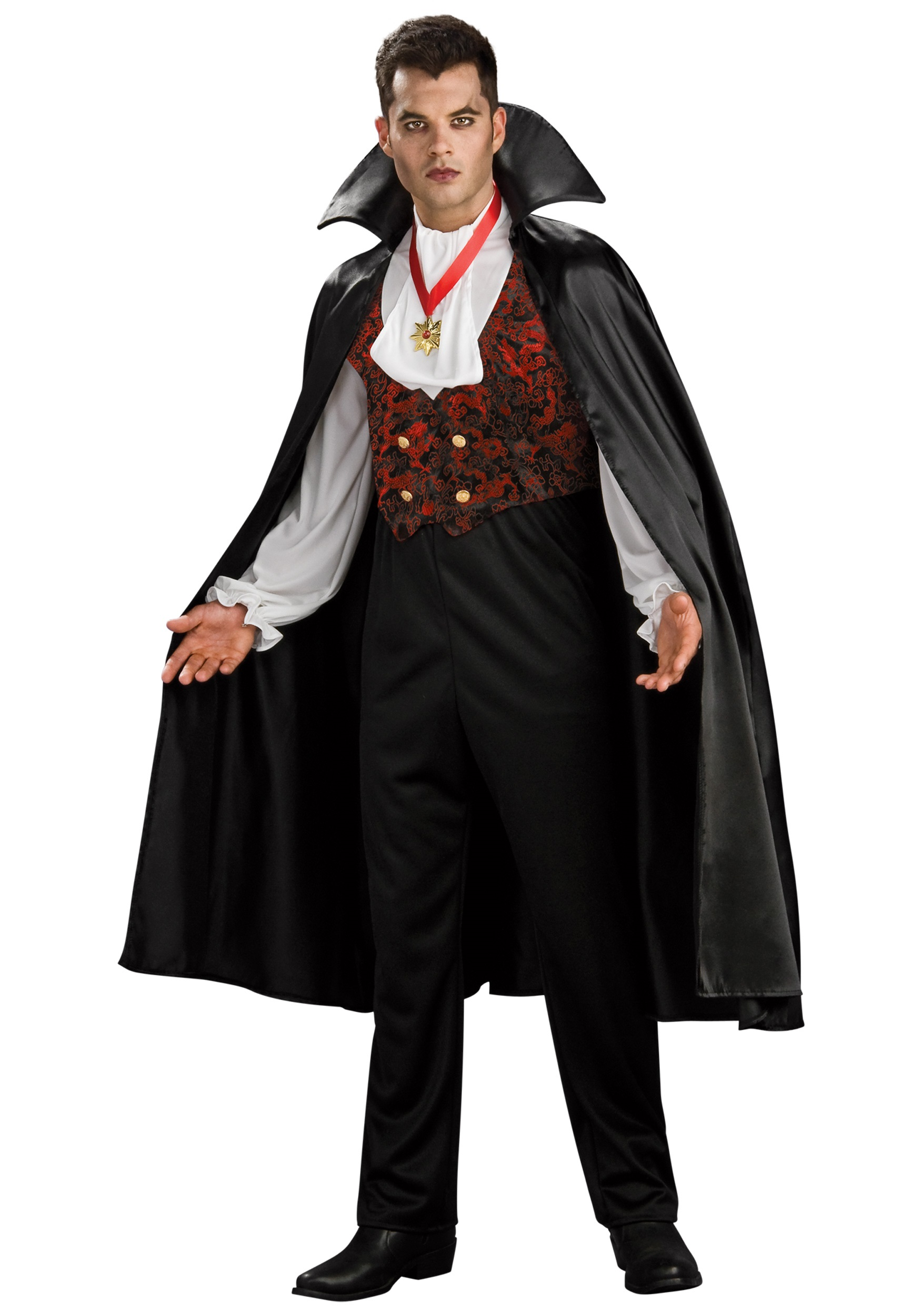 Become a fearsome, classic vampire in this adult Transylvanian Vampire ...