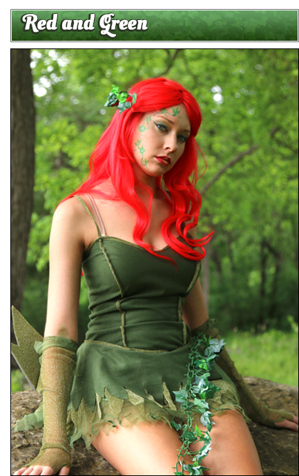 Poison Ivy Red and Green