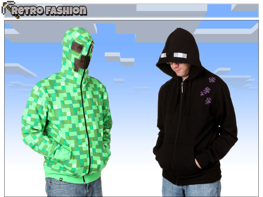 Minecraft Enderman and Creeper Sweatshirts