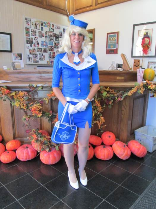 Women S Sexy Retro Stewardess Costume