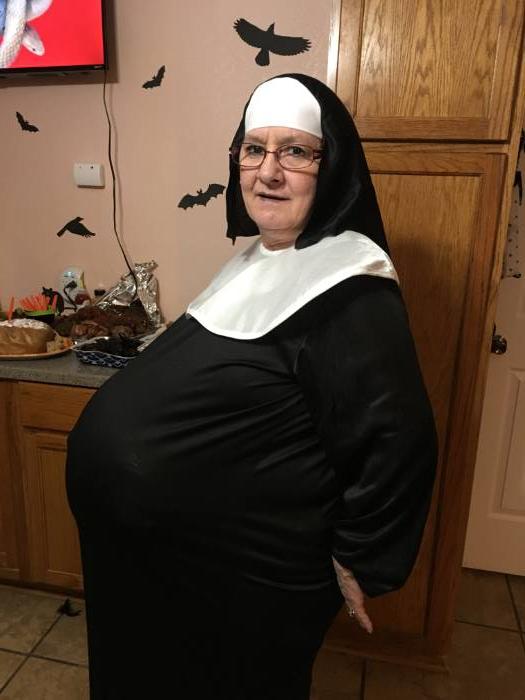 Pregnant Nun Costume |Nun Pregnant