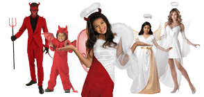 Angels u0026 Demons  sc 1 st  Halloween Costumes : trio halloween costumes ideas  - Germanpascual.Com