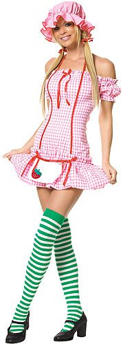 Sexy Strawberry Girl Costume Adult Strawberry Shortcake Costumes
