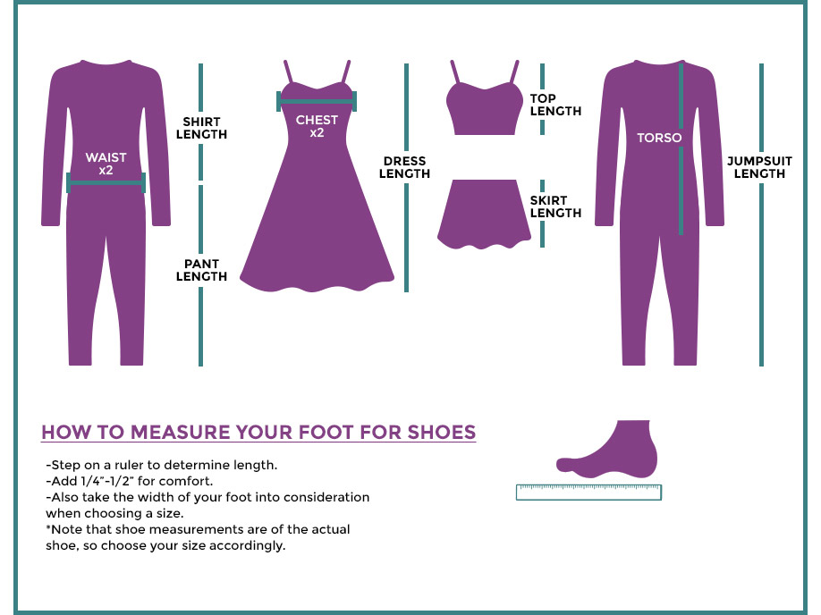 See How We Measure Our Costume Pieces