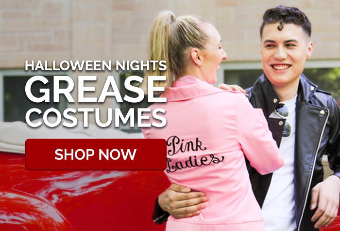Halloween Nights. Grease costumes.