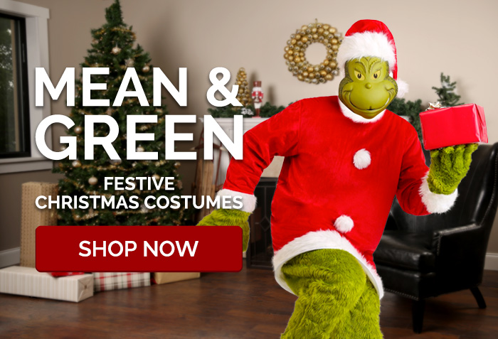 Mean & Green. Festive Christmas Costumes.