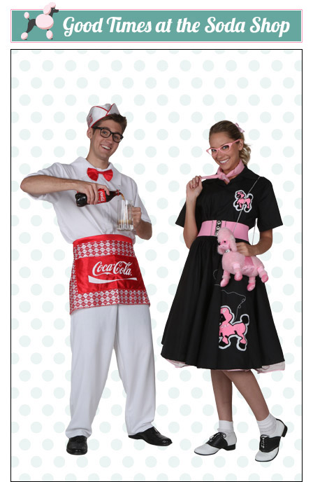 Soda Shop Poodle Skirt Couples Costume