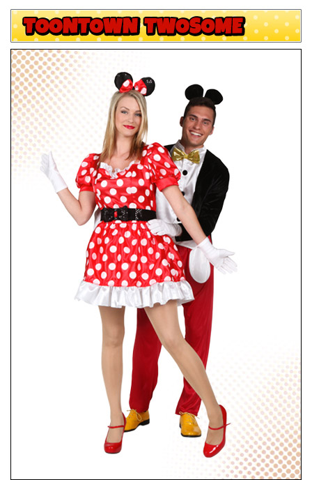 Classic Minnie Mouse and Mickey Mouse Couples Costume