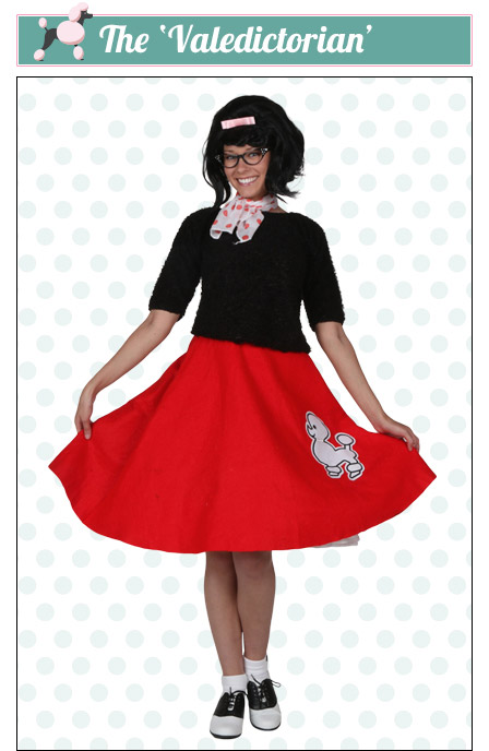 The Valedictorian Poodle Skirt Look