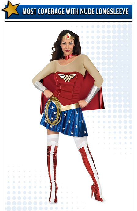Nude Long Sleeve Wonder Woman Costume