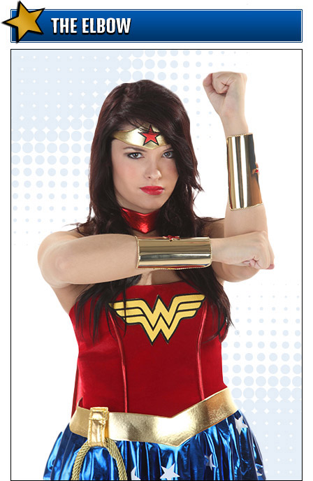 Fist to Elbow Wonder Woman Costume Pose