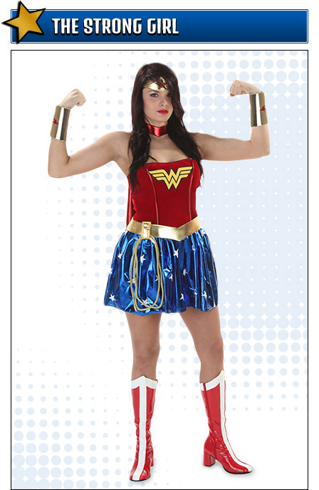 Flexing Wonder Woman Costume Pose