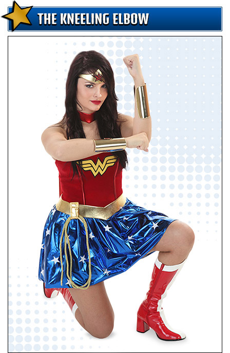 Kneeling Wonder Woman Costume Pose