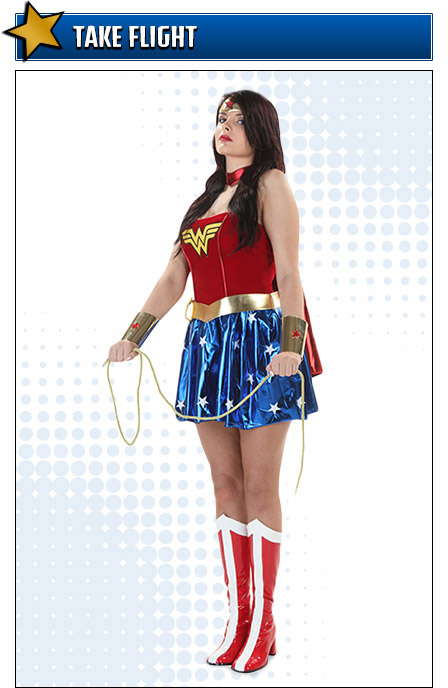 Flying Wonder Woman Costume Pose
