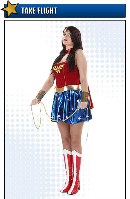 Flying Wonder Woman Costume Pose